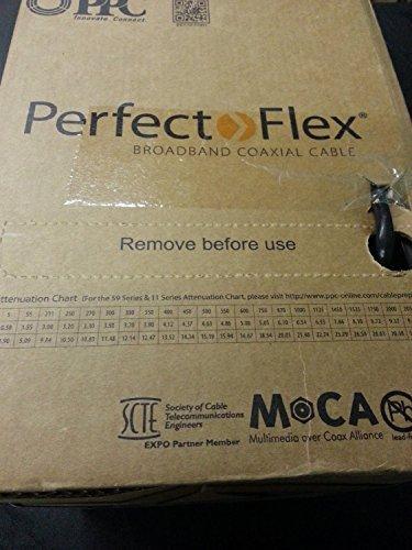 Perfectflex Coaxial Cable 6 Series 500 Ft Rg6 Trishield 77 Braid Black Color Copper Clad Steel