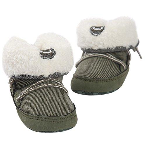 Fire Frog Baby Winter Boots - Patucos de piel para niño Verde