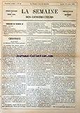 SEMAINE DES CONSTRUCTEURS (LA) [No 42] du 19/04/1879 - CHRONIQUE / LE PERSONNEL DES BATIMENTS CIVILS ET PALAIS NATIONAUX - DEPARTEMENT DE VAUCLUSE - PLAN DE L'EMPLACEMENT