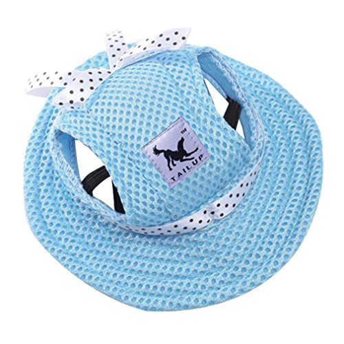 Sumen Small Pet Summer Outdoor Canvas Cap Princess Hat Visor Hat Puppy (F, M)