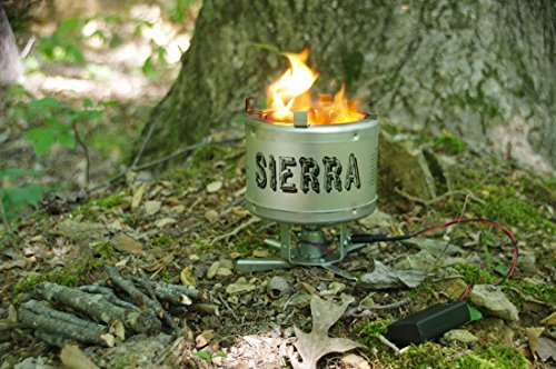 GemCoo Camping Stove Portable Stainless Steel Folding Wood Stove Pocket Stove for Outdoor Camping Cooking Picnic