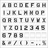 Pavement Stencils -12 inch MEGA Alpha/NUM Set - (64 Piece) - 12'' x 9'' x 1/16'' (63 mil) - Light-Duty