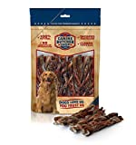 Canine Butcher Shop Braided Bully Stick Dog Chews, Made in USA, Odor Free, Single Ingredient, All-Natural Bull Sticks (12-Pack, 6 inch Length) Review