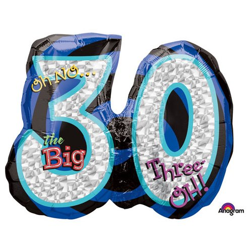 Anagram A1160 9 Oh No ItS My Birthday 30 Foil Balloon 26 Multicolored