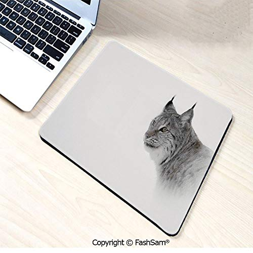 Mouse Pads Lynx in Central Norway Wild Cat North Cold Snowy Mountain Carnivore Predator for Home(W7.8xL9.45)