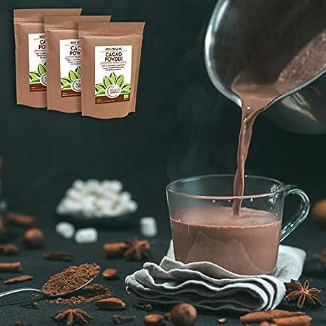 Cacao Orgánico en Polvo, Superalimento Vegano y Sin Azúcar - 400g