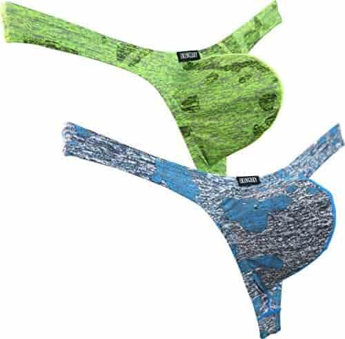 267b2362b082 iKingsky Men's Camouflage Thong Underwear Big Pouch T-Back Under Panties  Enhance Underwear