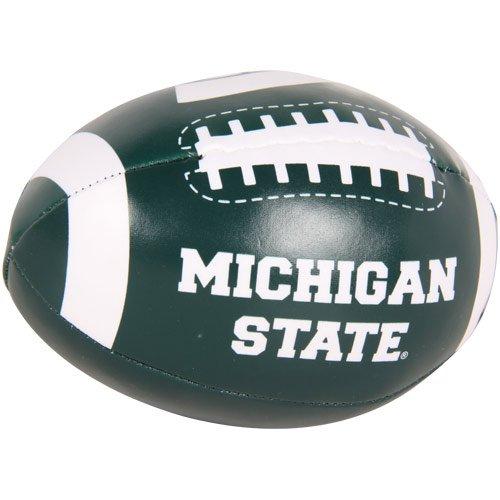 NCAA ミシガン州立大学スパルタンズ 4インチ クイックトス ソフトフットボール - グリーン