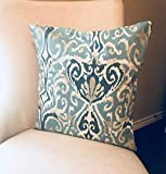 alerie Sassoon Decor Ative 18X18 Magnolia Home Winchester Ikat Spa Fabric Pillowcase Cover Throw Pillowcase