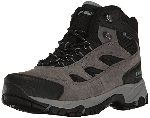 Hi-Tec Men's Logan Waterproof Hiking Boot, Gull Grey/Black/Goblin Blue, 11 D US