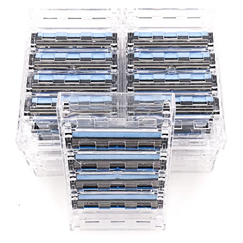 (40 Taconic Shave Triple Blade Cartridges (10 x 4), Compatible with all Gillette Sensor and Personna Triflexx Razor Handles, Made in the USA)