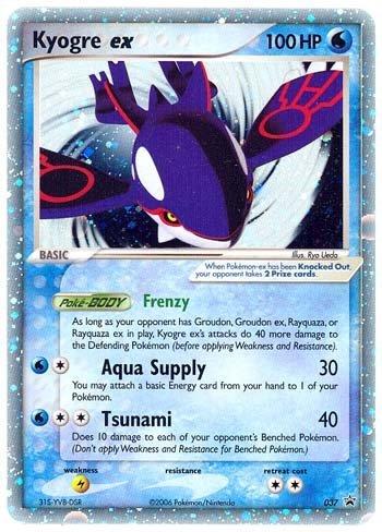 Pokemon Card Promo #037 - KYOGRE EX (holo-foil)