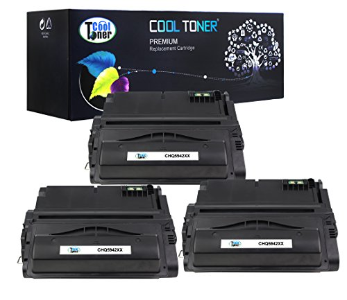 Cool Toner 3 Pack 27,000 Pages Compatible Toner Cartridge Replacement For HP 42X Q5942X Q1338A Q5942 Used For HP LaserJet 4200 4240 4250 4250TN 4250N 4250DTN 4300 4350 4345MFP 4350N 4350TN 4350DTN