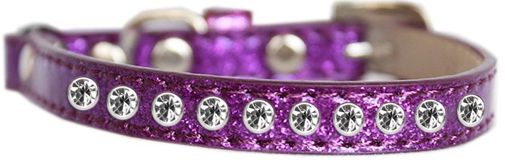 Purple 12 Purple 12 Mirage Pet Products Clear Jewel Ice Cream Cat Safety Collar Purple Size 12
