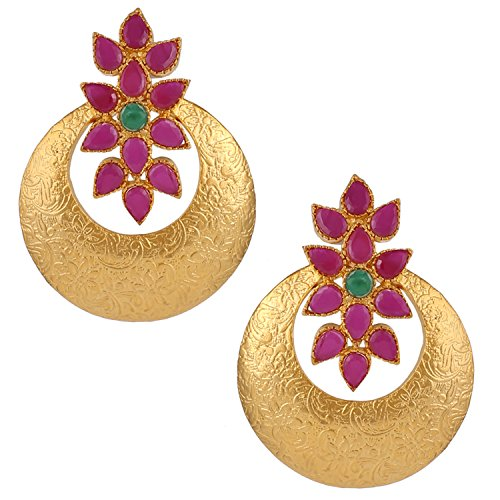 Swasti Jewels Bollywood style Chand Bali Earrings for Women ()