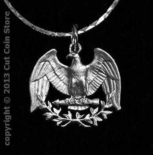 Amazon silver eagle 25 usa quarter cut coin jewelry pendant silver eagle 25 usa quarter cut coin jewelry pendant necklace mozeypictures Gallery