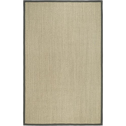 Safavieh Natural Fiber Collection NF443B Tiger Eye Marble and Grey Sisal Area Rug (5' x 8')