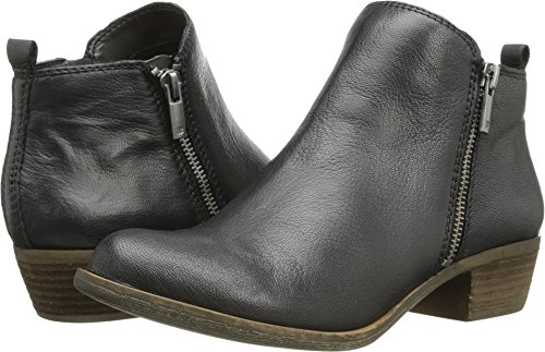 Lucky Brand Women's Basel Bootie,Black Leather,US 10 W