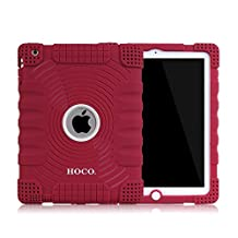 Honeycase Extreme-Duty Military Transformer Hybrid Shockproof & Drop Rresistance Anti-slip Soft Silicone Case Cover for iPad 2 / for iPad 3 / for iPad 4 (Wine Red)