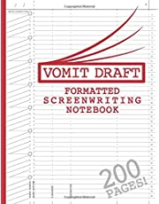 """Blank Screenwriting Notebook: Write Your Own Movies - 200 Pages of Pre-Formatted Script Templates - 8.5"""" x 11"""" Journal for Ideas + Notes in Sidebars for Writers of TV Shows & Films"""