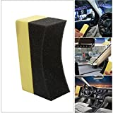 CALAP STORE - 10 Pcs Car Professional Tyre Tire Dressing Applicator Curved Foam Sponge Pad Wholesale