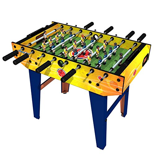 Minigols Colombia Foosball Table with 11 Colombia Figures and 11 Mexico Figures