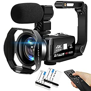 Flashandfocus.com 513z%2BLS9AzL._SS300_ 4K Camcorder 48MP 18X Digital Camera WiFi IR Night Vision Video Camera for YouTube 3.0inch HD Touch Screen Vlogging…