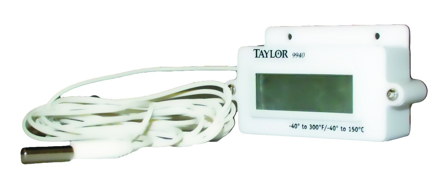 Taylor Precision Products Digital Panel Mount Thermometer (-40- to 300-Degrees Fahrenheit, -40- to 150-Degrees Celsius) by Taylor Precision Products