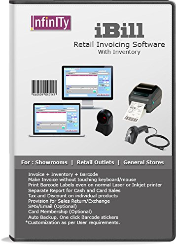 IBill Billing Inventory Barcode Software For Showrooms Retail - Invoice software with inventory