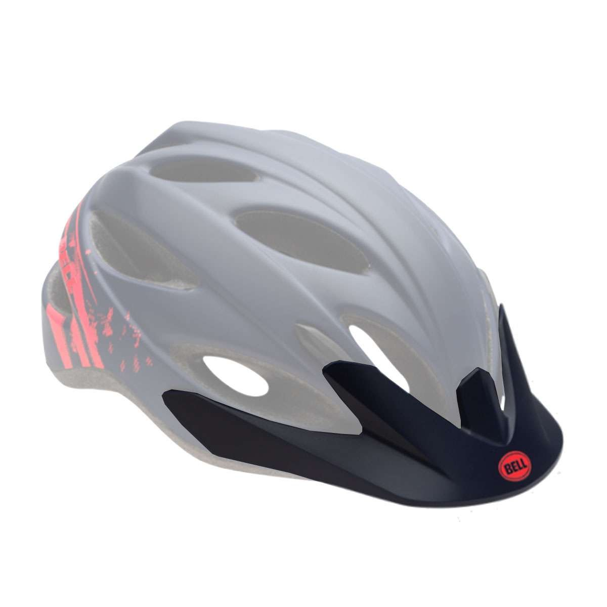 Bell Sports Strut Bicycle Helmet - Replacement Visor - Matte Midnight/Infrared Sonic - 8047359