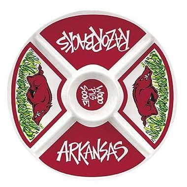 Collegiate Melamine Veggie Tray (Arkansas Razorbacks)