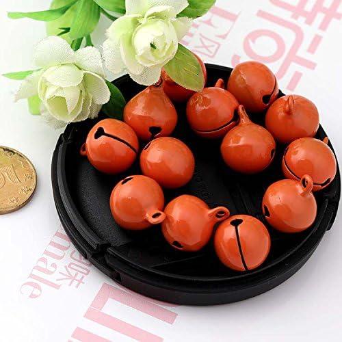 Zhi Jin 100Pcs Durable 14mm Candy Color Jingle Bells DIY Craft Pendant Party Wedding Christams Decoration Accessories Set Black