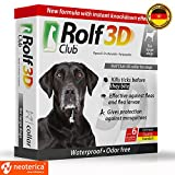 Dog Flea Treatment Collar - Rolf Club 3D FLEA Collar for Dogs – Flea and Tick Prevention for Dogs – Dog Flea and Tick Control for 6 Months – SAFE Tick Repellent – WATERPROOF Tick Treatment (Over 65 LB (29.5 inch))