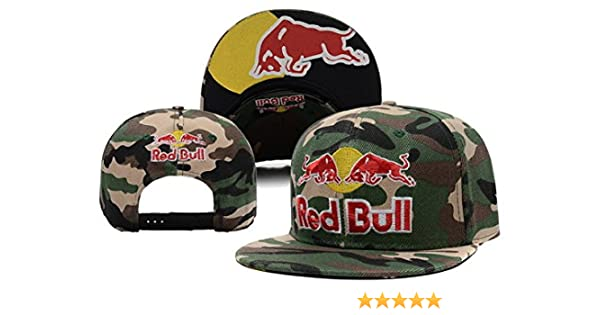 Trentini Camuflaje Red-Bull Clean Up Ajustable Gorro, Gorra, Talla ...
