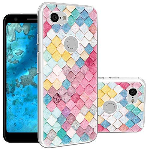 (Topnow Google Pixel 3a Case, Shockproof Ultrathin Soft TPU Advanced Printing Pattern Cover Phone Case for Google Pixel 3a - Diamond Lattice)