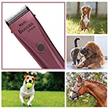 Wahl Professional Animal Bravura Pet, Dog, Cat, and Horse Corded / Cordless Clipper Kit, Pink