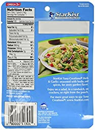 Starkist Tuna Creations, Herb & Garlic, Single Serve 2.6-Ounce Pouch (Pack of 6)