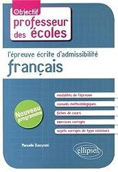 L'Épreuve Écrite d'Admissibilité Français CRPE Nouveau Programme