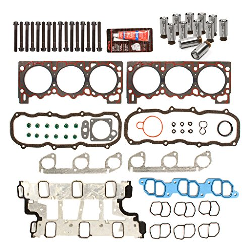 2000 Ford Explorer Engine - Evergreen HSHBLF8-20301 Lifter Replacement Kit Fits 97-00 Ford Explorer Ranger Aerostar Mazda 4.0 OHV Head Gasket Set, Head Bolts, Lifters
