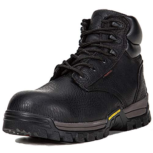 ROCKROOSTER Work Boots for Men, Composite/Soft Toe Waterproof Safety Working Shoes / AT697-P, 11-BLK Blk Soft Toe Boot