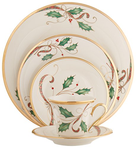 Lenox Holiday Nouveau 5-Piece Place Setting (Service for (Lenox Holiday Ribbon)