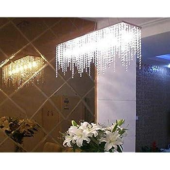 Amazon.com: 7PM Modern Linear Rectangular Island Dining Room Crystal ...