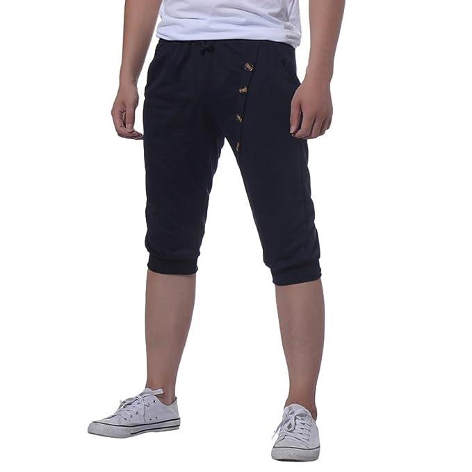 Corto Hombre HUI Pantalones Cortos Overoles para Patalón Braguitass Jeans  Hombre Casuales Shorts de aq1wv 98277382769b
