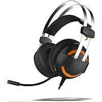 Krom Cascos Gaming KODE -NXKROMKDE - Auriculares con microfono, Sonido Envolvente 7.1, Altavoces 50mm, Diadema Ajustable…