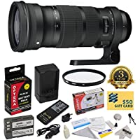 Sigma 120-300mm f/2.8 DG OS HSM Lens (137306) With 3 Year Extended Lens Warranty for the Nikon D700 D300S D300 D200 D100 D90 D80 D70 D70s D50 DSLR Camera Includes - Vivitar 105mm Multi-Coated UV Filter + Replacement Battery Pack for the Nikon EN-EL3E 2000MAH + 1 Hour AC/DC Battery Charger + Deluxe Lens Cleaning Kit + LCD Screen Protectors + Wireless Shutter Release Remote Control + Mini Tripod + 47stphoto Microfiber Cloth + $50 Photo Print Gift Card!