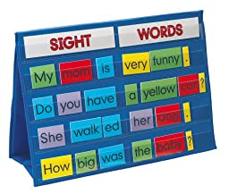 Smethport Tabletop Pocket Chart Sight Words