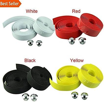 Cycling Handle Belt Bike Road Bicycle Cork Handlebar Rubber Tape Wrap+2 Bar Plug