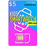 $5 SIM Card for Kids Smart Watch - 3 in 1 SIM Card GSM 4G LTE - Kids Smartwatches Wearables - 30 Day Service