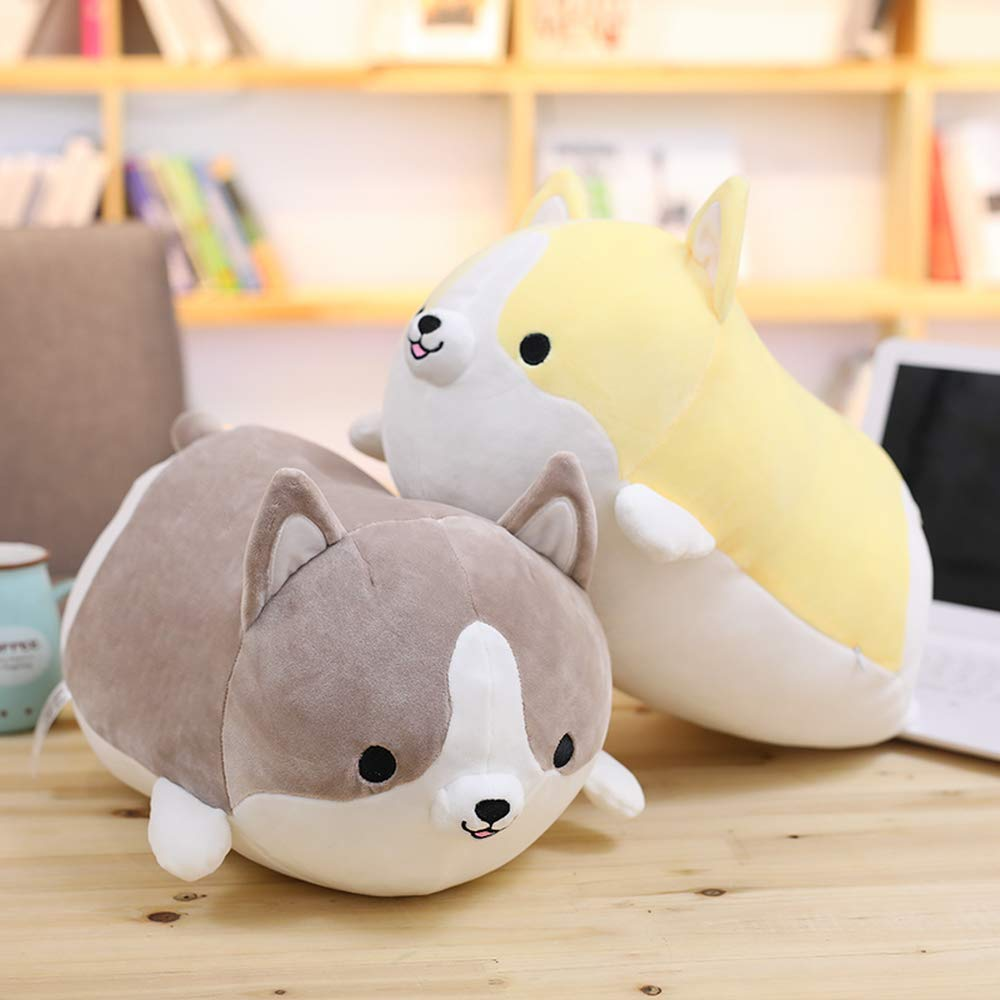 HUIDE Dog Plush Pillow Cute Corgi Akita Animali Imbottiti Doll Toy Gift s per San Valentino Sofa Chair Natale