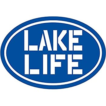 Perfect Laptop Decal Home Gift WickedGoodz Blue Lake Life Vinyl Decal Lake Bumper Sticker